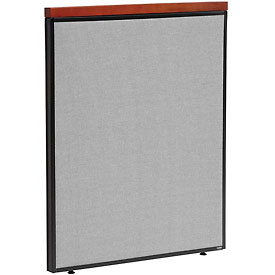 "Deluxe Office Partition Panel, 36-1/4""W x 43-1/2""H, Gray"