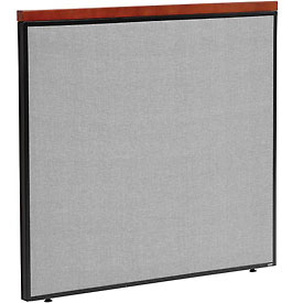 "Interion™ Deluxe Office Cubicle Partition Panel, 48-1/4""W x 43-1/2""H, Gray"