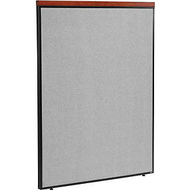 "Deluxe Office Partition Panel, 48-1/4""W x 61-1/2""H, Gray"