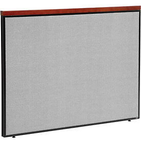 "Interion™ Deluxe Office Partition Panel, 60-1/4""W x 43-1/2""H, Gray"