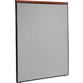 "Interion™ Deluxe Office Cubicle Partition Panel, 60-1/4""W x 73-1/2""H, Gray"