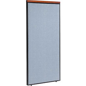 "Deluxe Office Partition Panel, 36-1/4""W x 73-1/2""H, Blue"