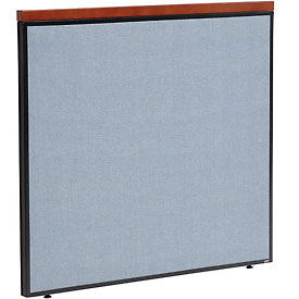 "Deluxe Office Partition Panel, 48-1/4""W x 43-1/2""H, Blue"