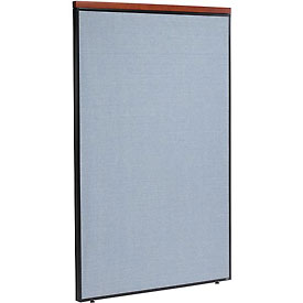 "Deluxe Office Partition Panel, 48-1/4""W x 73-1/2""H, Blue"