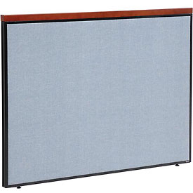 "Interion™ Deluxe Office Cubicle Partition Panel, 60-1/4""W x 43-1/2""H, Blue"