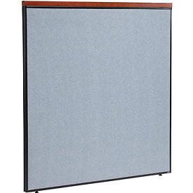 """Interion™ Deluxe Office Cubicle Partition Panel, 60-1/4""""W x 61-1/2""""H, Blue"""