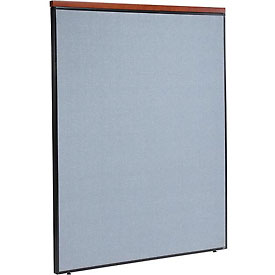 "Interion™ Deluxe Office Cubicle Partition Panel, 60-1/4""W x 73-1/2""H, Blue"