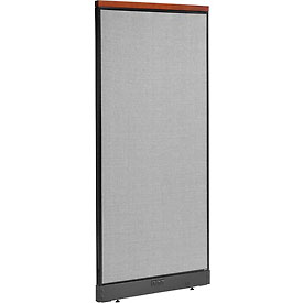 "Interion™ Deluxe Electric Office Cubicle Partition Panel, 36-1/4""W x 77-1/2""H, Gray"