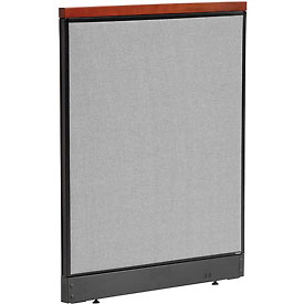"Deluxe Non-Electric Office Partition Panel with Raceway, 36-1/4""W x 47-1/2""H, Gray"