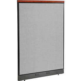 "Deluxe Electric Office Partition Panel, 48-1/4""W x 65-1/2""H, Gray"