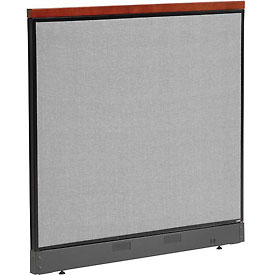"Interion™ Deluxe Non-Electric Office Cubicle Panel with Raceway, 48-1/4""W x 47-1/2""H, Gray"