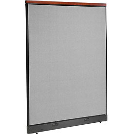 "Deluxe Electric Office Partition Panel, 60-1/4""W x 77-1/2""H, Gray"
