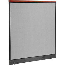 "Interion™ Deluxe Electric Office Cubicle Partition Panel, 60-1/4""W x 65-1/2""H, Gray"