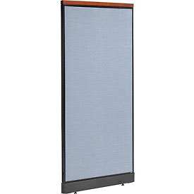 "Interion™ Deluxe Office Cubicle Panel with Pass Thru Cable, 36-1/4""W x 77-1/2""H, Blue"