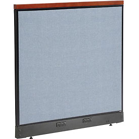 "Interion™ Deluxe Electric Office Partition Panel, 48-1/4""W x 47-1/2""H, Blue"