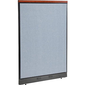 "Interion™ Deluxe Electric Office Cubicle Partition Panel, 48-1/4""W x 65-1/2""H, Blue"