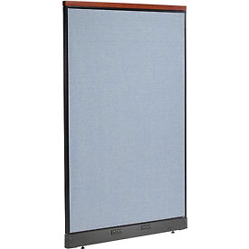 "Interion™ Deluxe Electric Office Cubicle Partition Panel, 48-1/4""W x 77-1/2""H, Blue"