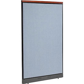 """Deluxe Office Partition Panel with Pass Thru Cable, 48-1/4""""W x 77-1/2""""H, Blue"""