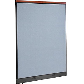 "Interion™ Deluxe Electric Office Cubicle Partition Panel, 60-1/4""W x 77-1/2""H, Blue"