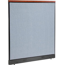 "Deluxe Electric Office Partition Panel, 60-1/4""W x 65-1/2""H, Blue"