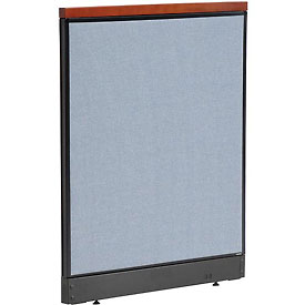 "Interion™ Deluxe Non-Electric Office Cubicle Panel with Raceway, 36-1/4""W x 47-1/2""H, Blue"