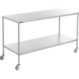Aero® Stainless Steel Instrument Table CS-2436 with Lower Shelf 36x24x34