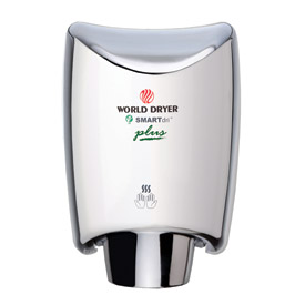 World Dryer® SMARTdri Plus Aluminum 120V Hand Dryer - Polished Chrome - K-970P2