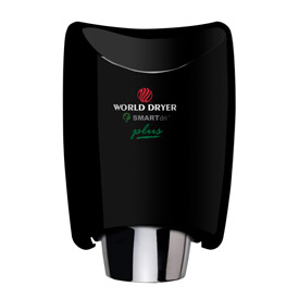 World Dryer® SMARTdri Plus Aluminum 208-240V Hand Dryer - Black - K4-162P2