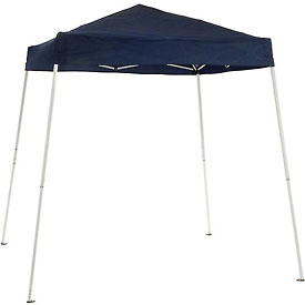 "Global Portable Slant Leg Pop Up Canopy, 8'L X 8'W X 8' 2""H, Blue"