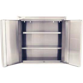 "Global™ Stainless Steel Wall Mount Cabinet - All-Welded with 2 Adj. Shelves 30""W x 12'D x 30""H"