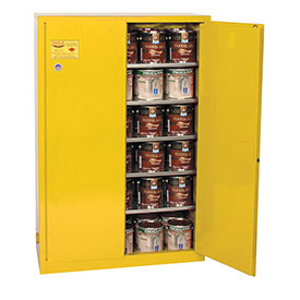 Eagle Paint/Ink Safety Cabinet with Manual Close - 60 Gallon Yellow