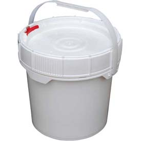 Vestil 3.5 Gallon Screw-Top Plastic Pail & Lid PAIL-SCR-35-W - White