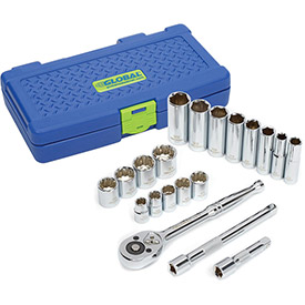 "Global™ Industrial 3/8"" Drive 20 Piece Socket Set"