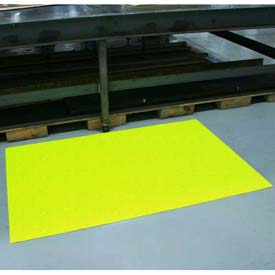 "Sof-Spun Anti-Fatigue Mat 3/8"" Thick 36""W Cut Length To 60' Hi-Viz Yellow"