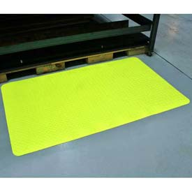 "Diamond-Dek Sponge Anti-Fatigue Mat 36""W Cut Length To 75' Hi-Viz Yellow"