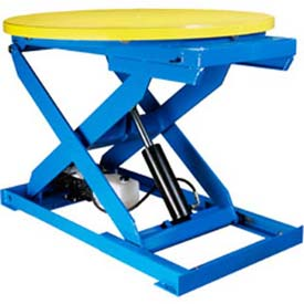 "Bishamon OPTIMUS Lift3K Lift Table 43"" Dia. Turntable 3000 Lb. Cap. Foot Control L3K-TT by"