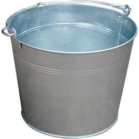 Vestil Galvanized Steel Bucket BKT-GAL-325 3-1/4 Gallon Capacity