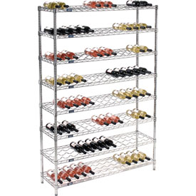 "Wine Bottle Rack - 104 Bottle 48"" x 14"" x 74"""