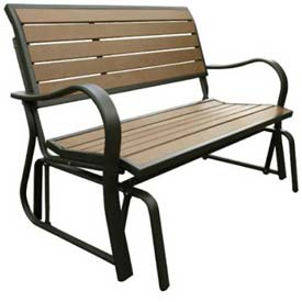 Lifetime® Faux Wood Glider Bench