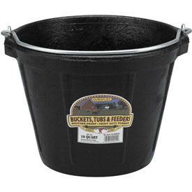 Little Giant All-Purpose Pail Df10, Duraflex Rubber, 10 Qt., Black by