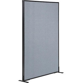 "Interion™ Freestanding Office Cubicle Partition Panel, 48-1/4""W x 60""H, Blue"