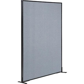 "Freestanding Office Partition Panel, 48-1/4""W x 72""H, Blue"