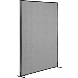 "Interion™ Freestanding Office Cubicle Partition Panel, 48-1/4""W x 72""H, Gray"