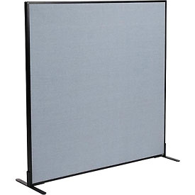 """Interion™ Freestanding Office Cubicle Partition Panel, 60-1/4""""W x 60""""H, Blue"""
