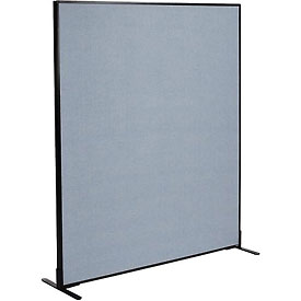 "Interion™ Freestanding Office Cubicle Partition Panel, 60-1/4""W x 72""H, Blue"