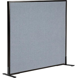 "Interion™ Freestanding Office Cubicle Partition Panel, 48-1/4""W x 42""H, Blue"