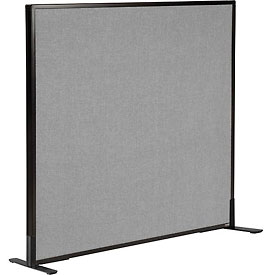 "Interion™ Freestanding Office Cubicle Partition Panel, 48-1/4""W x 42""H, Gray"