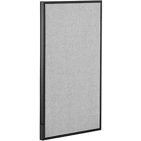 "Interion™ Office Cubicle Partition Panel, 24-1/4""W x 42""H, Gray"