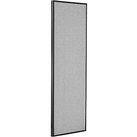 "Office Partition Panel, 24-1/4""W x 72""H, Gray"
