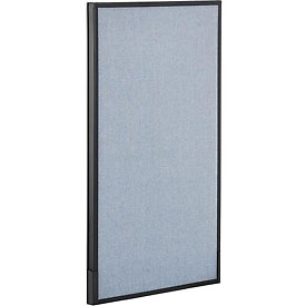 "Office Partition Panel, 24-1/4""W x 42""H, Blue"